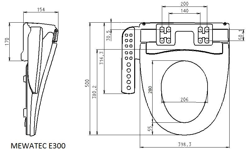 der dusch wc spezialist mewatec dusch wc aufsatz e300 preis leistungs sieger. Black Bedroom Furniture Sets. Home Design Ideas
