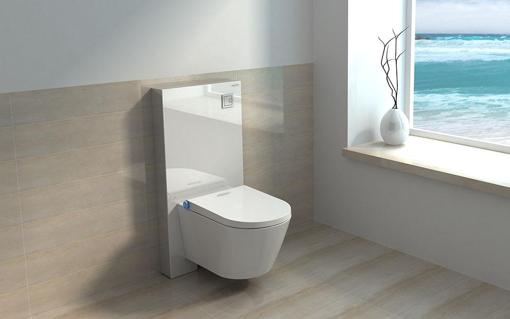 MEWATEC Dushlet Memphis Dusch-WC Komplettanlage MagicWall Spuelkasten Spuelwand Ambiente