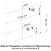 MEWATEC Spuelkasten MagicWall Spuelwand Masse Installation