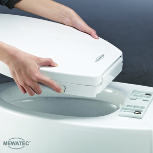 MEWATEC Dushlet Nevada Dusch-WC Aufsatz Schnelllösetaste