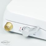 MEWATEC Dushlet Nevada Dusch-WC Aufsatz nichtelektronisch Bedienknopf Analdusche