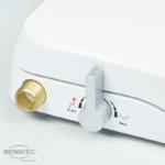 MEWATEC Dushlet Nevada Dusch-WC Aufsatz nichtelektronisch Bedienhebel