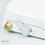 MEWATEC Dushlet Nevada Dusch-WC Aufsatz nichtelektronisch Bedienhebel Ladywash