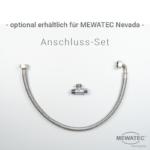 MEWATEC Dushlet Nevada Dusch-WC Aufsatz nichtelektronisch optionales Anschluss-Set