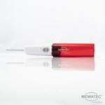 MEWATEC Reise Dusch-WC Travelet liegend rot geoeffnet