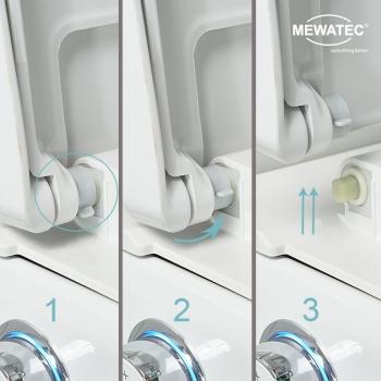 MEWATEC Dushlet EasyUp Dusch-WC Komplettanlage Schnellloese-Funktion